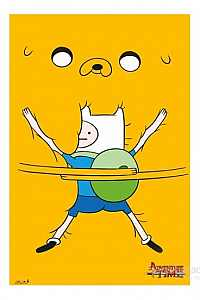 Adventure Time Bro Hug Maxi Poster