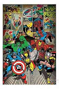 Maxi Poster Marvel Comics Here Come The Heroes